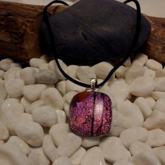Pink with Black Pendant