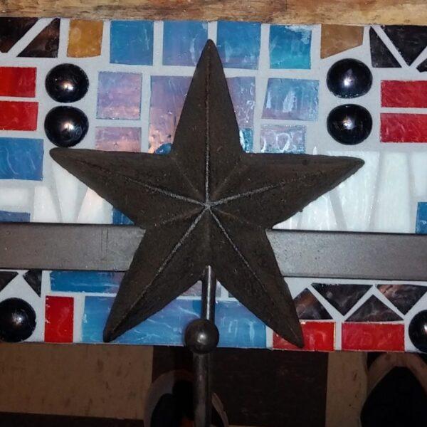 Mosaic Metal Stars with hooks