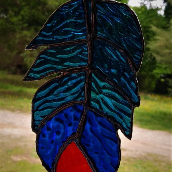 Turquoise Fun Feather